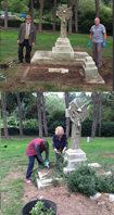 Volunteers help to clear the Graves